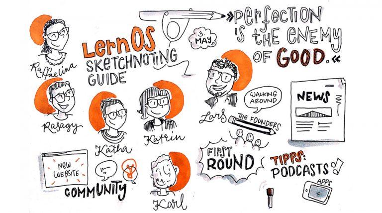 Treffen der lernOS Sketchnoting Crew